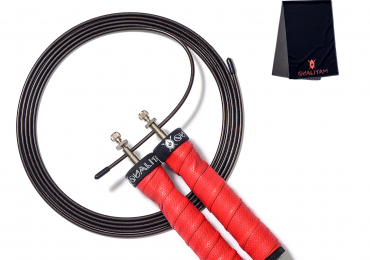Jump Rope Set with FREE Cooling Towel, Adjustable Cable, Weighted Handles