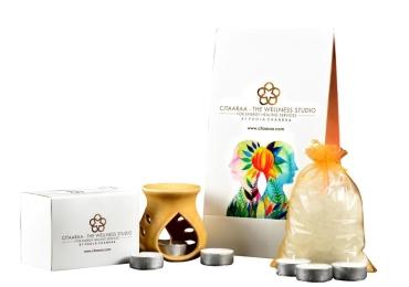 Citaaraa's Wellness Envelope | 750 g| 2 Items |Premium Camphor |Long Lasting Tea light Candles upto 6 hours | Energised | Remove Negativity | Positive Vibration
