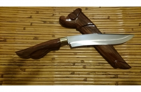 12.6″PantherWorld143 Ebony Parang with Hand Forged German High Speed Steel Recurve Blade