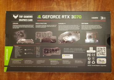 ASUS TUF GeForce RTX 3070 OC 8GB GDDR6 Graphics Card